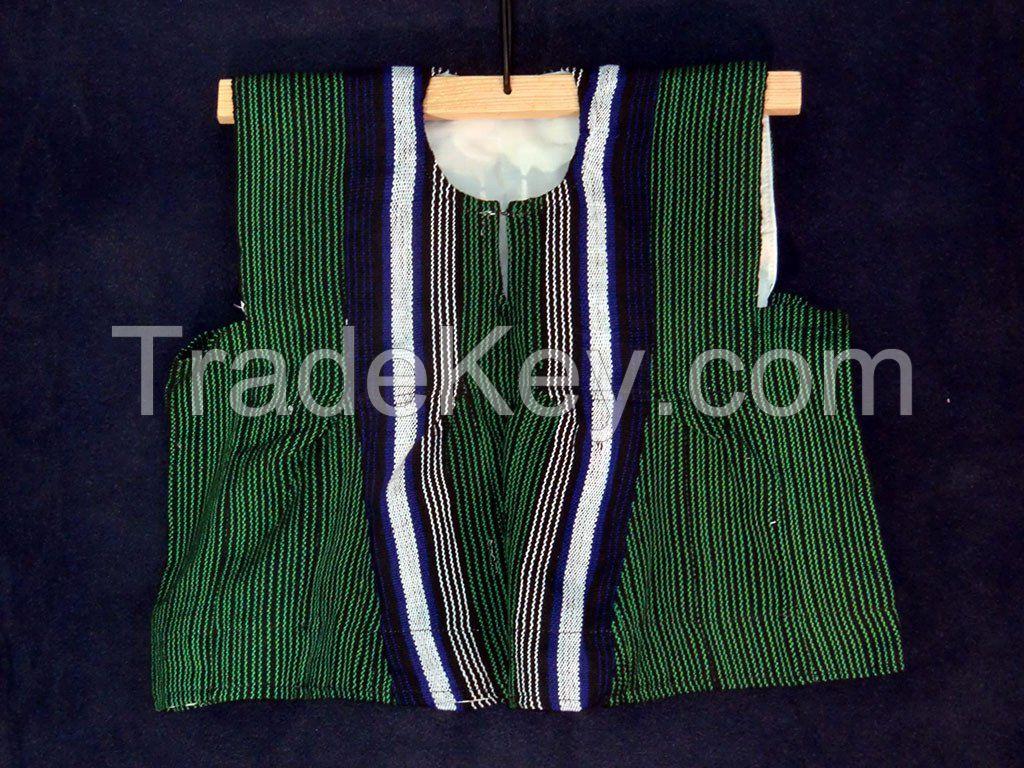 Boy's Batakari / Fugu - Green Pinstripes