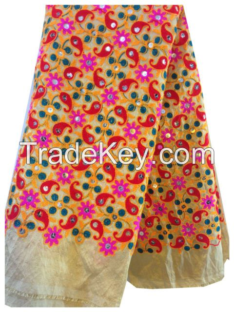all over embroidered work and fabrics , garments embroidered work , doing jobwork as per your orders and designs . .