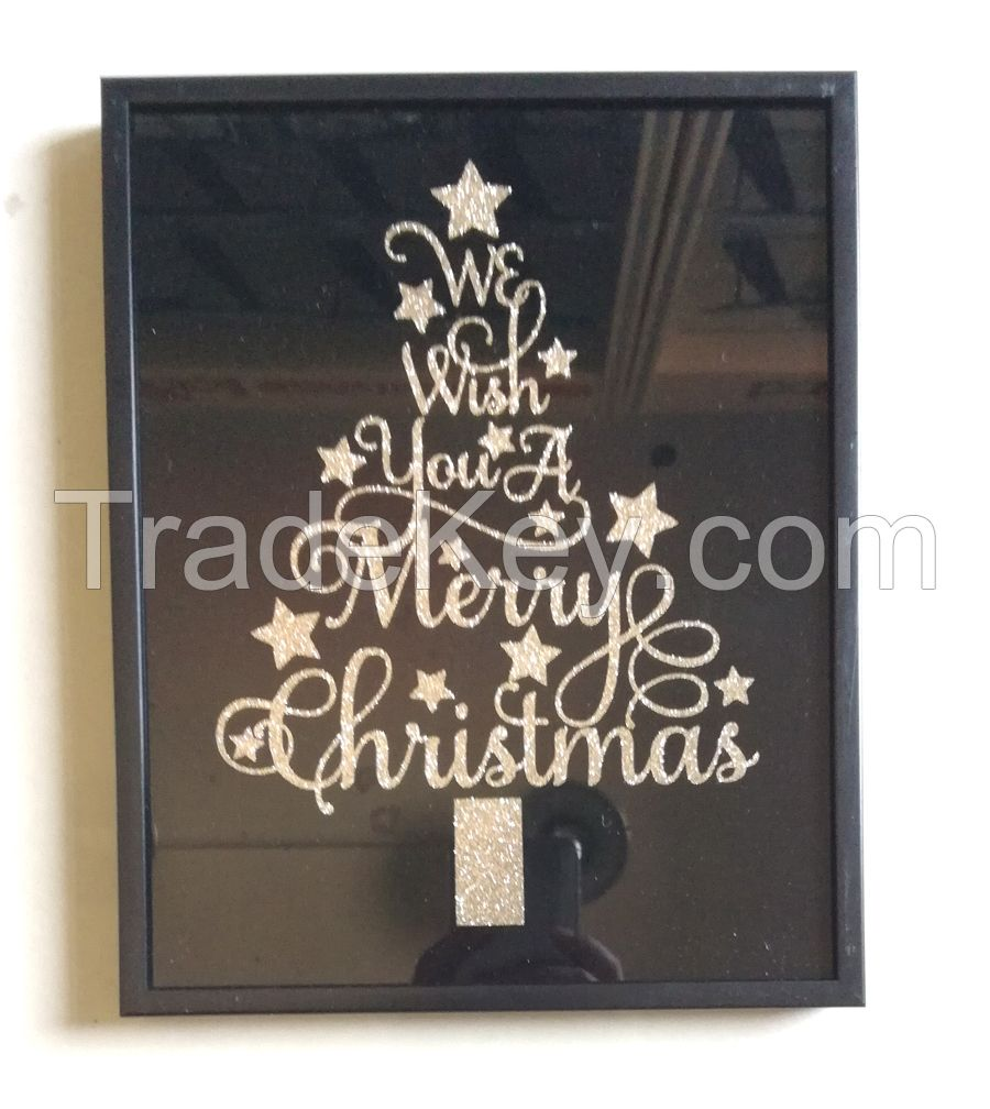 Christmas Gift Decorative Glass Print Home Goods Deco Frame Art