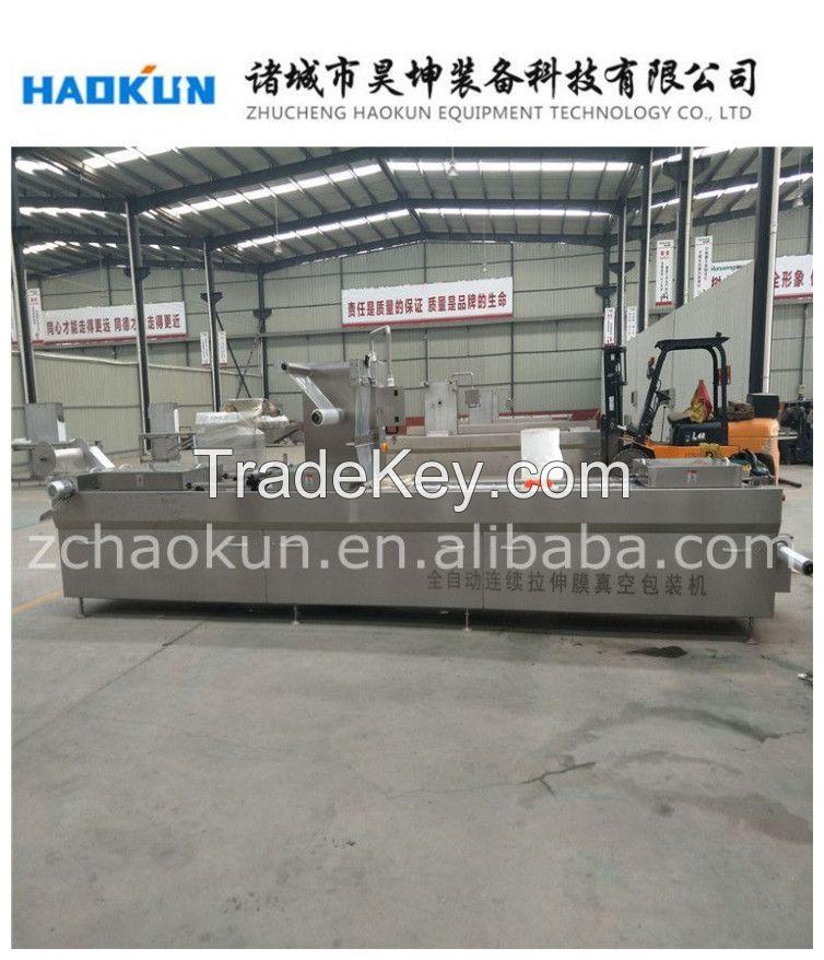 full automatic continuous stretching film vacuum packaging machine