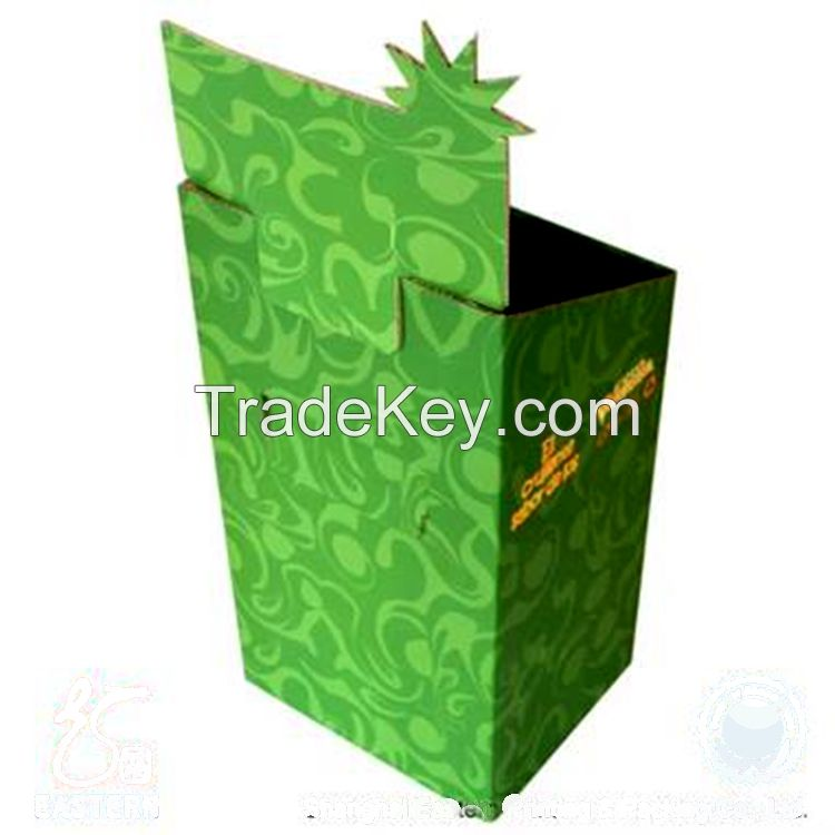 Custom color printing corrugated display box gift box packing supermarket display box toy box