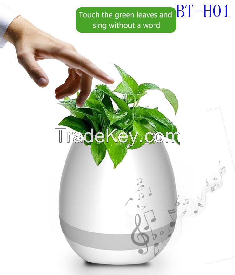 New! Creative Music Vase Smart Music Flowerpot Wireless Bluetooth Speaker Intelligent Plant Piano Music with Colorful LED Night Light