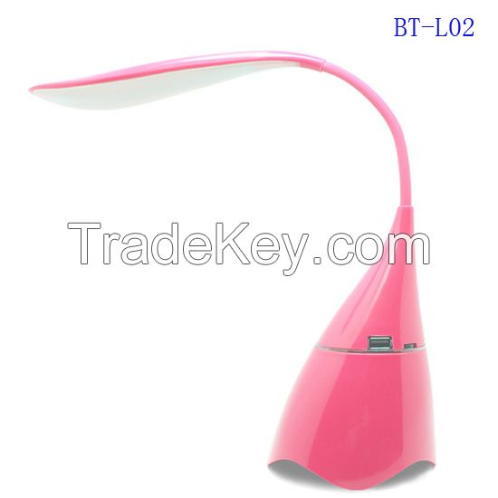 High quality cheap sd card portable led light lamp  bluetooth speaker for Christmas present