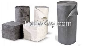 Ready sale 100 Pp Fiber High specification Oil absorbent sheet for spill and liquid absorbing materials