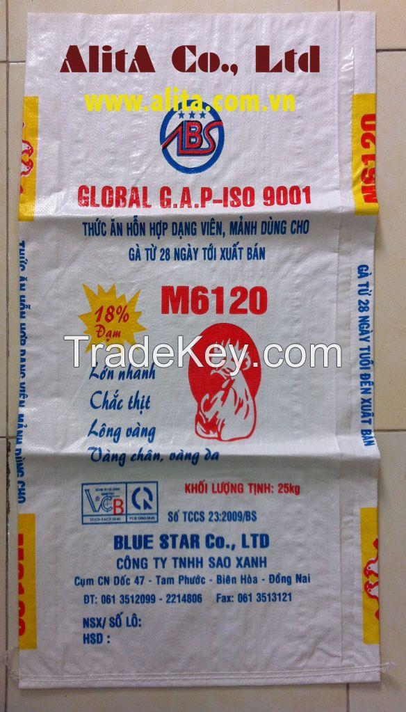 Animal feed bags