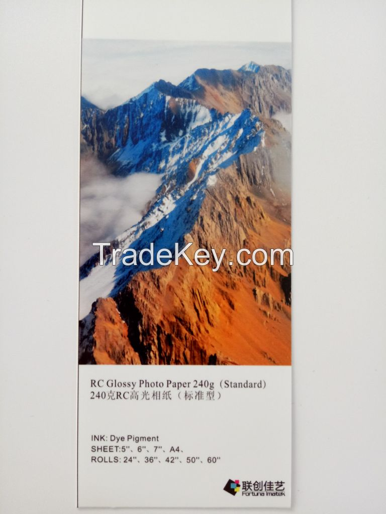 240g Standard Glossy, Luster, Satin Inkjet Photo Paper