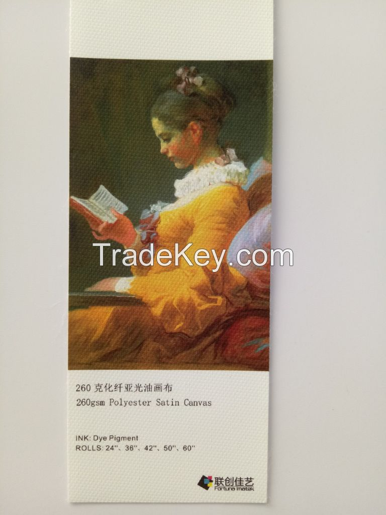 Inkjet printing Canvas, Poly-Cotton Printing Canvas 370g