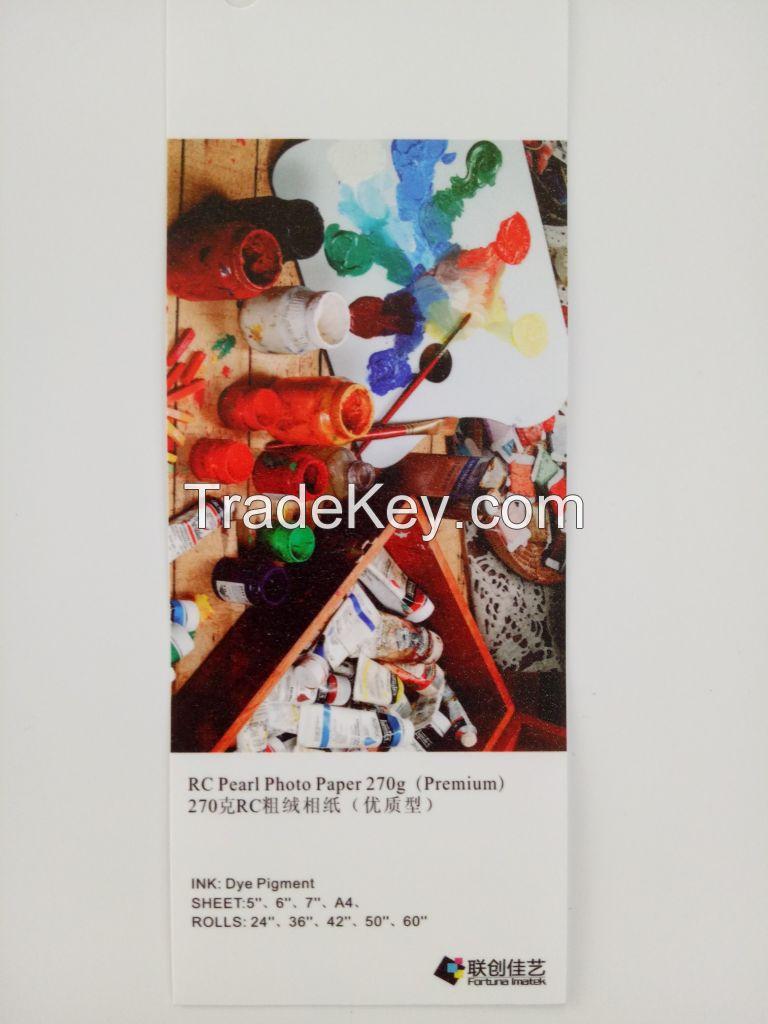 Glossy, Luster, Pearl, Silky Photo Paper, Inkjet Waterproof Photo Paper 270g