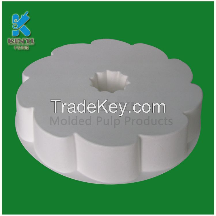 Exquisite jewelery packaging tray with pulp molded recyclable