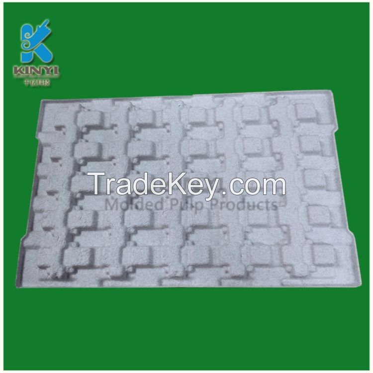 New design antistatic packaging pulp molded disposable paper pulp tray