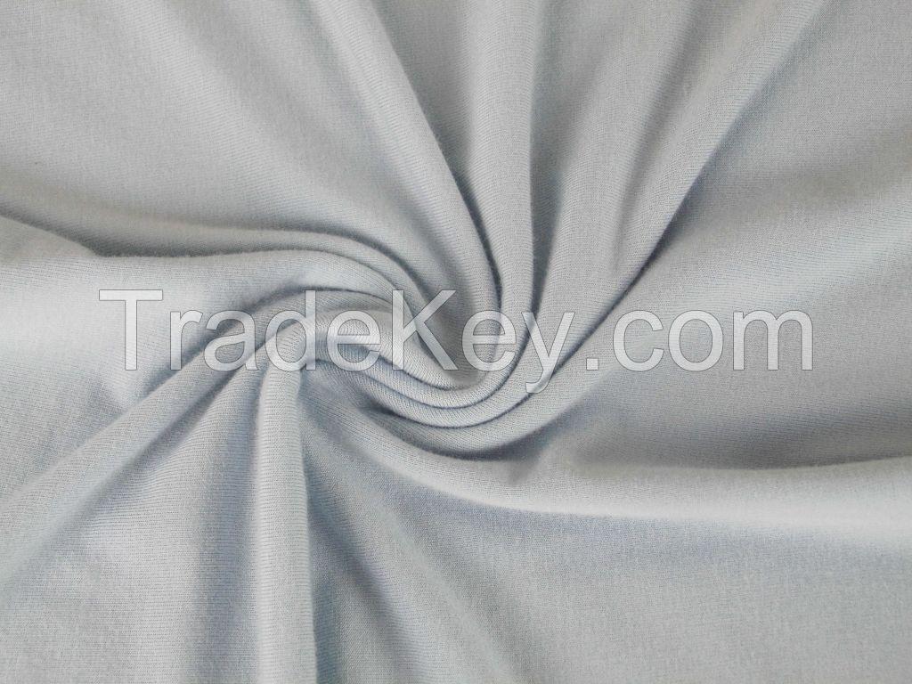 china supplier wholesale soprtwear 32s spun yarn T/R 140gsm single jersey fabric