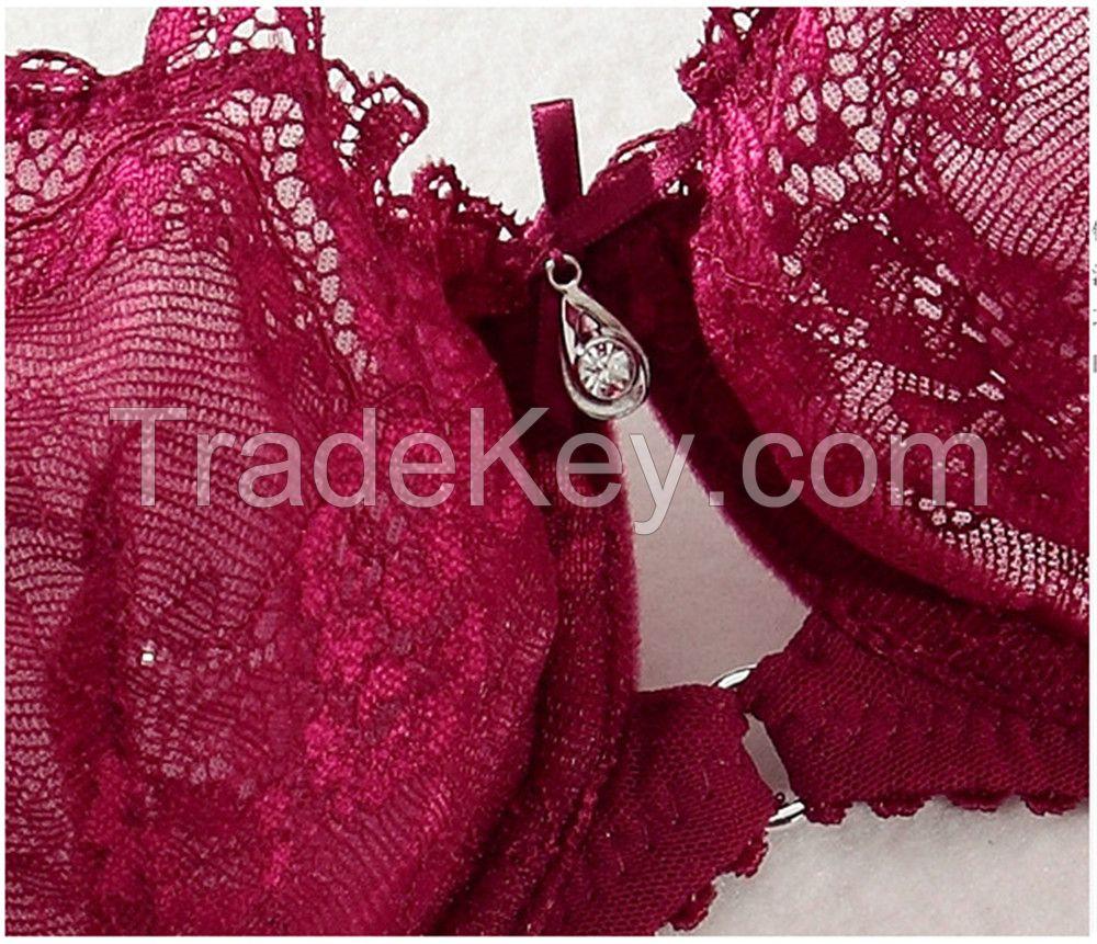 Lace Easy Keyhole Push-Up Bra Set