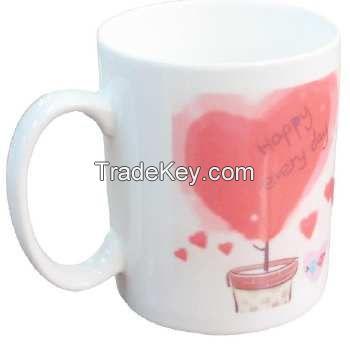 white color porcelain cap mug