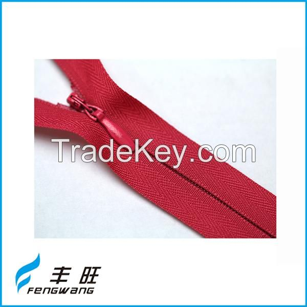 High quality fancy long chain invisible zipper