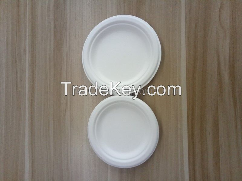 Environmentally bagasse Pulp Disposable plate