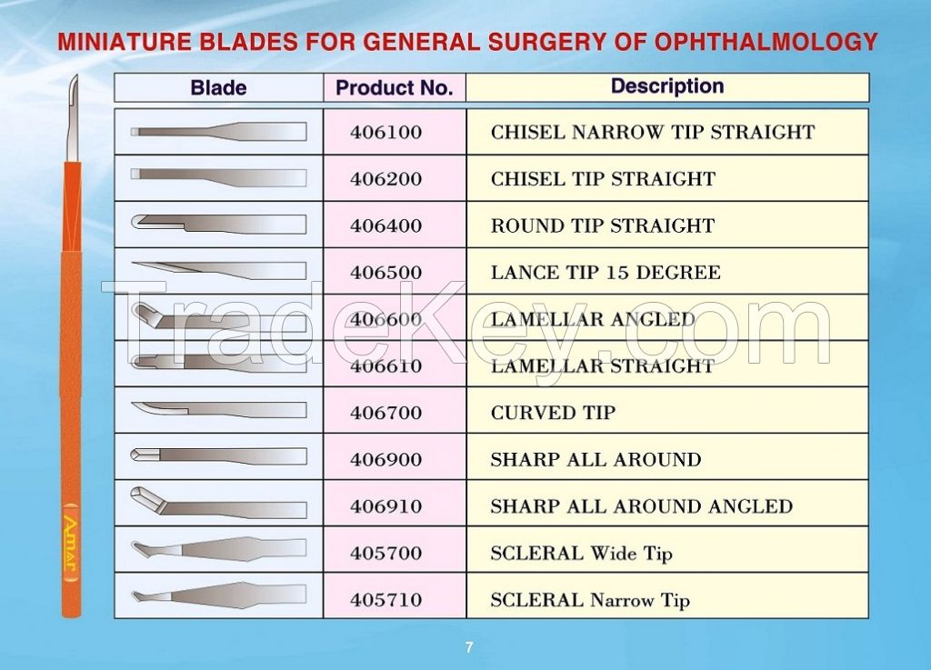 Ophthalmic Knife
