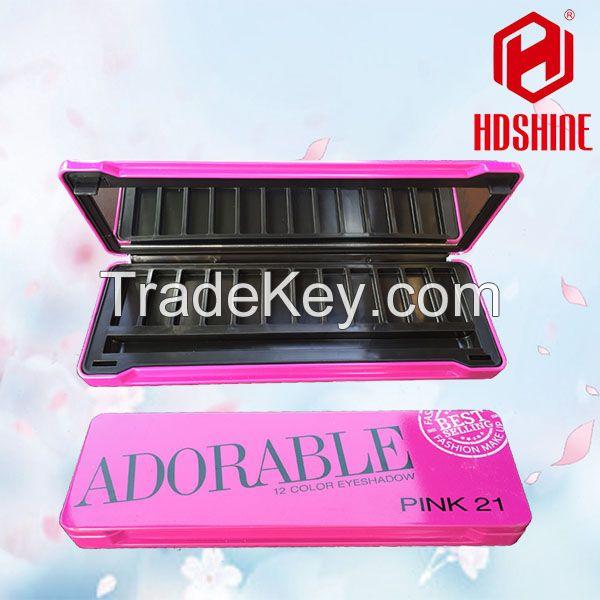 Empty Metal Makeup Eyeshadow Case Palette Tin Box