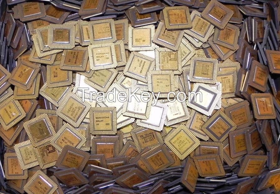 PENTIUM PRO GOLD CERAMIC CPU SCRAP HIGH GRADE CPU SCRAP, COMPUTERS CPUS /