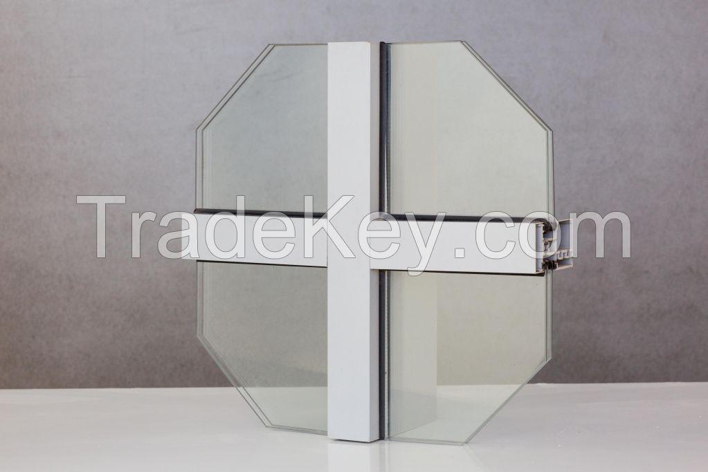 aluminium glass curtain wall structure profile