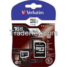 Verbatim SD Card 16 GB Class 10 + Adaptors