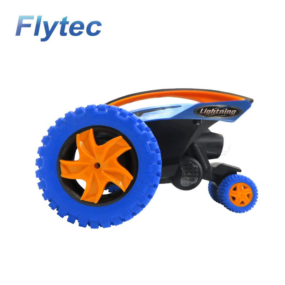 Flytec 015 RC Car 360 Degree Bouncing Rotation Devil Fish Crazy Gyro Truck Rock With Light RTR Blue