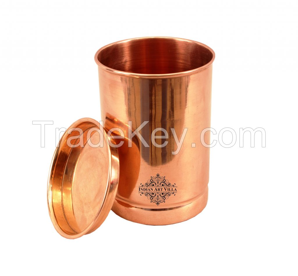 Copper Plain Glass ring no. 1 with Lid