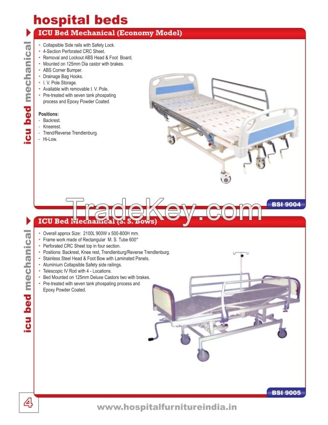 ICU BED , TROLLEY, STRETCHER, STOOL, LINEN