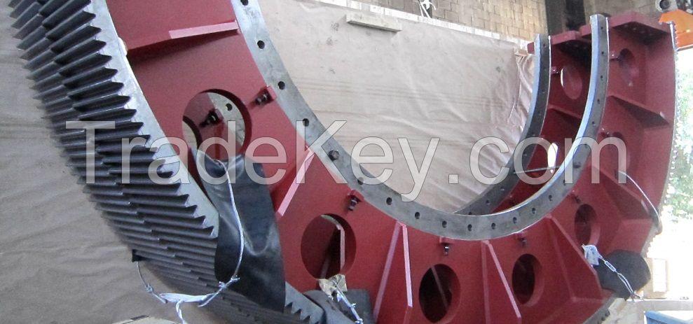 Spur Gear - Girth Gear -Wheels Gear for Rotary Kilns Cement Plant - Sponge Iron Plant
