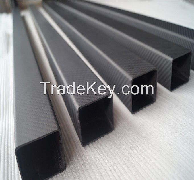 High strength gloss and twill 3k carbon fiber square tube