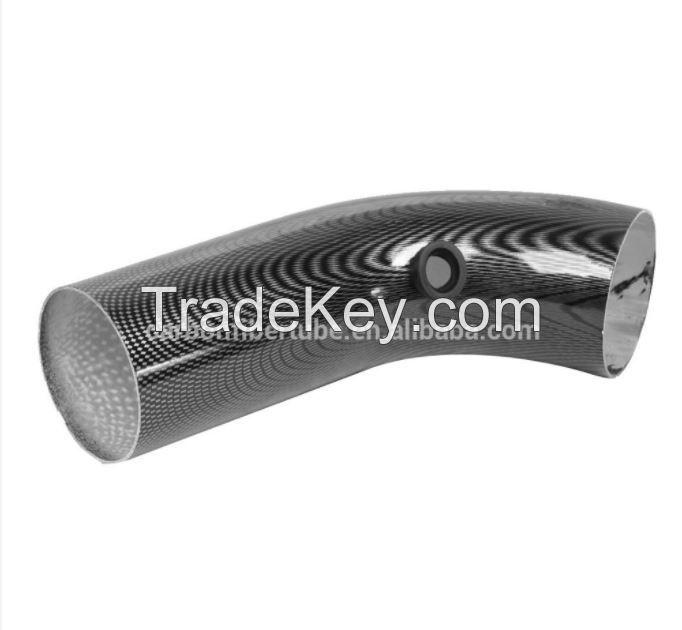 Carbon fiber bent tube/bent pipe angle 45 degree, 90 degree,120 degree