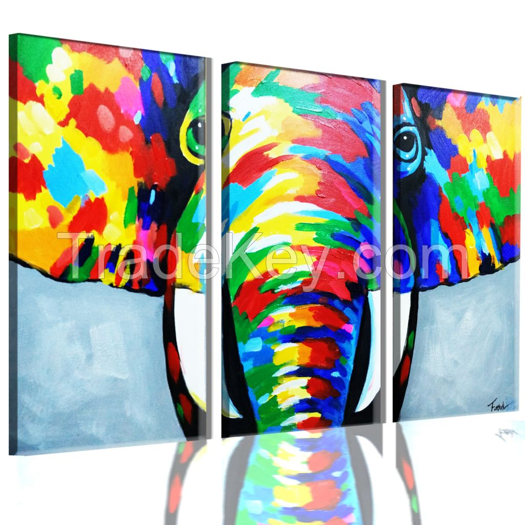 Fasdi-ART Oil Painting 100%Hand-painted Art Knife decoration 3D Animal