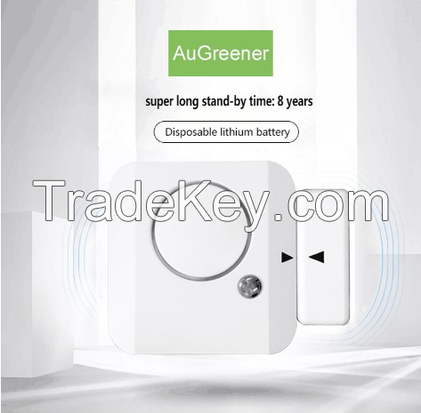 Augreener 3.6v lithum battery wireless door sensor alarm