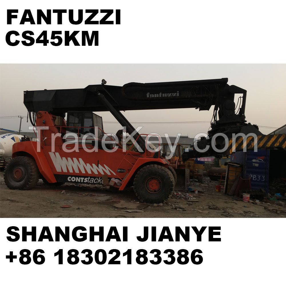 Used cheap Fantuzzi CS45KM 45ton container reach stacker for
