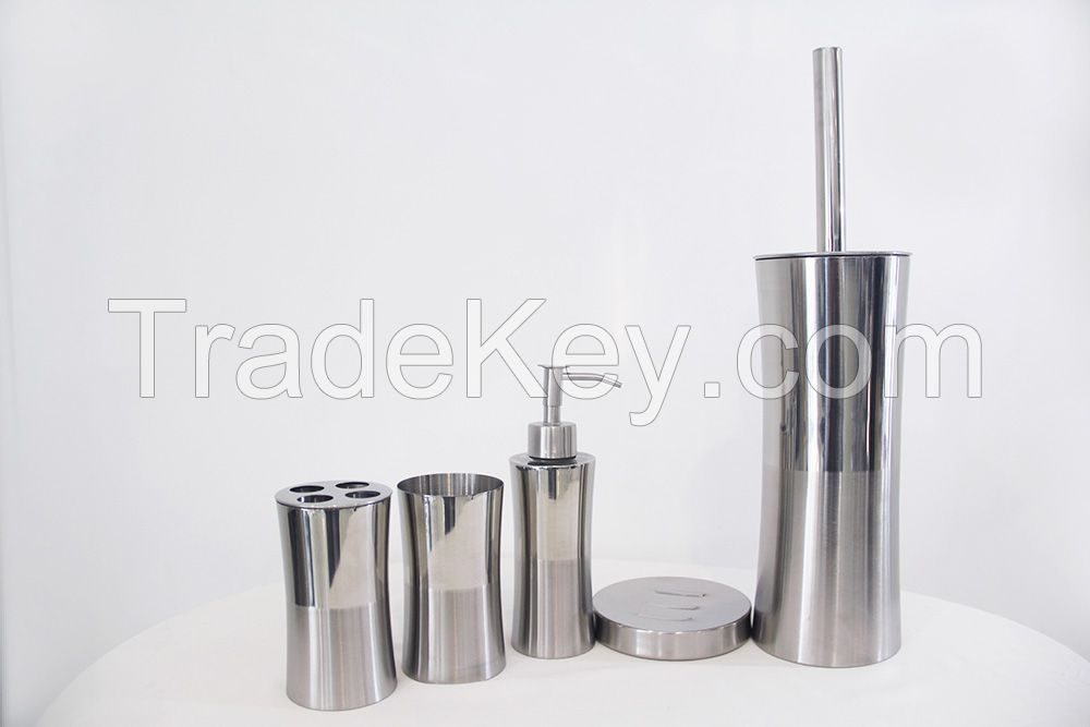Stainless steel bathroom accessories toilet brush lotion holder soap dish