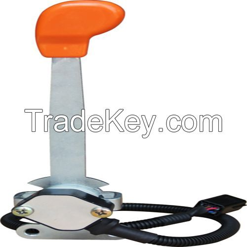 Electronic remote throttle with handle