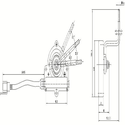 electronic control gear handle