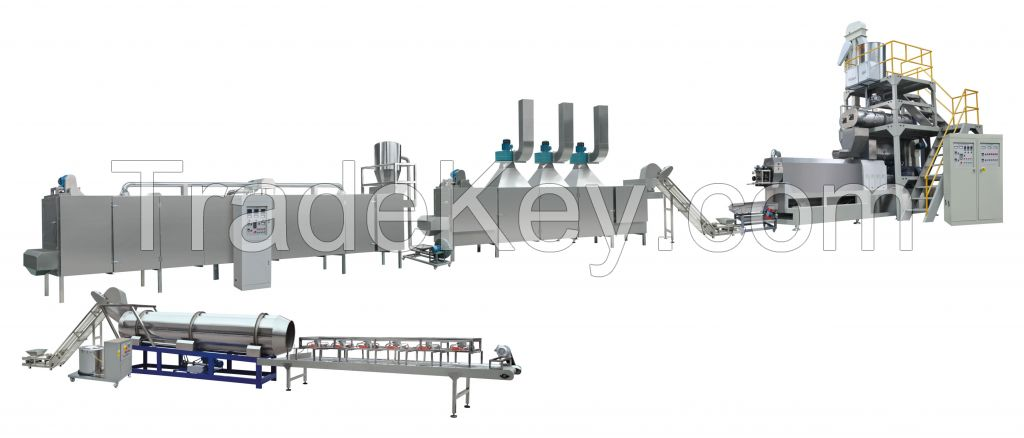 Automatic floating fish feed machine line