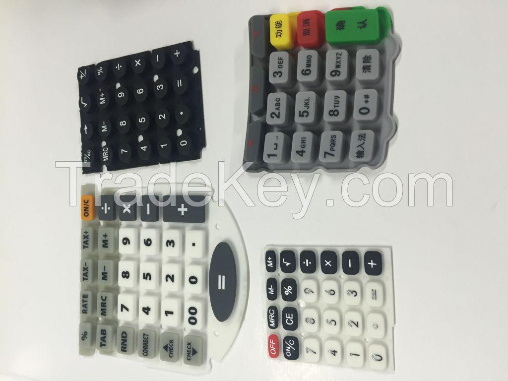 silicone keypad for calculator