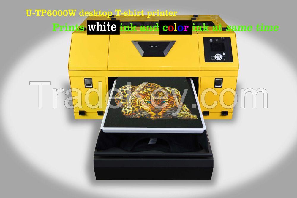 Fast digital direct to garment T-shirt printer