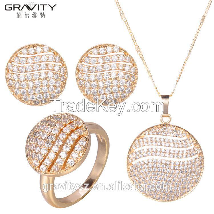 TZXG0090 Gravity fine design Unique Elegant luxury saudi dubai imitation 24k gold plated jewellery sets