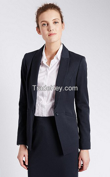 Western Style Girl Formal Office Women Coat Pant Business Suits For Ladies