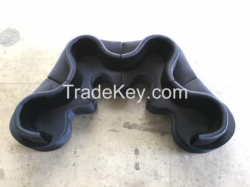 sectional sofa SF016-velvet-black