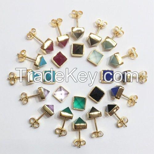 Genuine Gemstone Earrings
