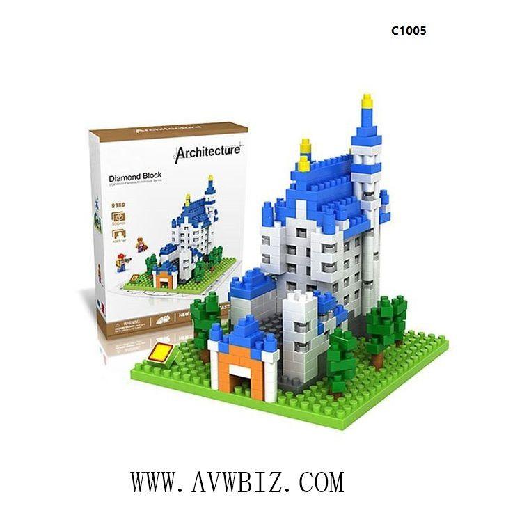 New Swan Stone Castle Diamond Building Block Educational Toy
