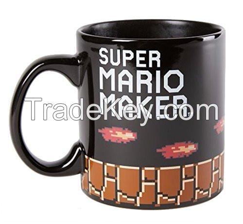 Nintendo Super Mario Maker Bowser 20oz Heat Changing Ceramic Coffee Mug
