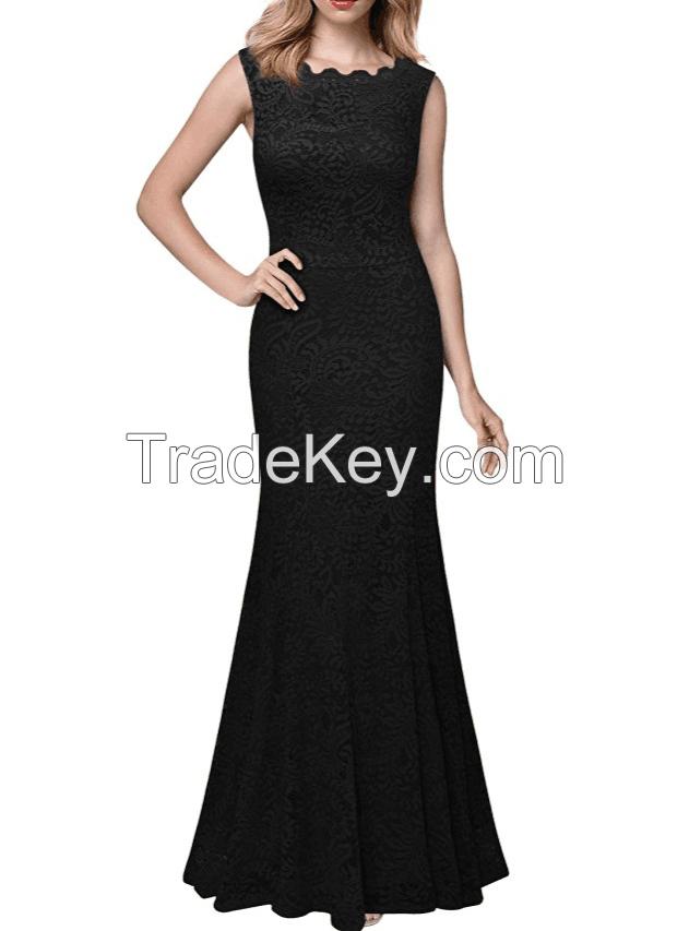 2018 Women fashion comfortable lace long dress