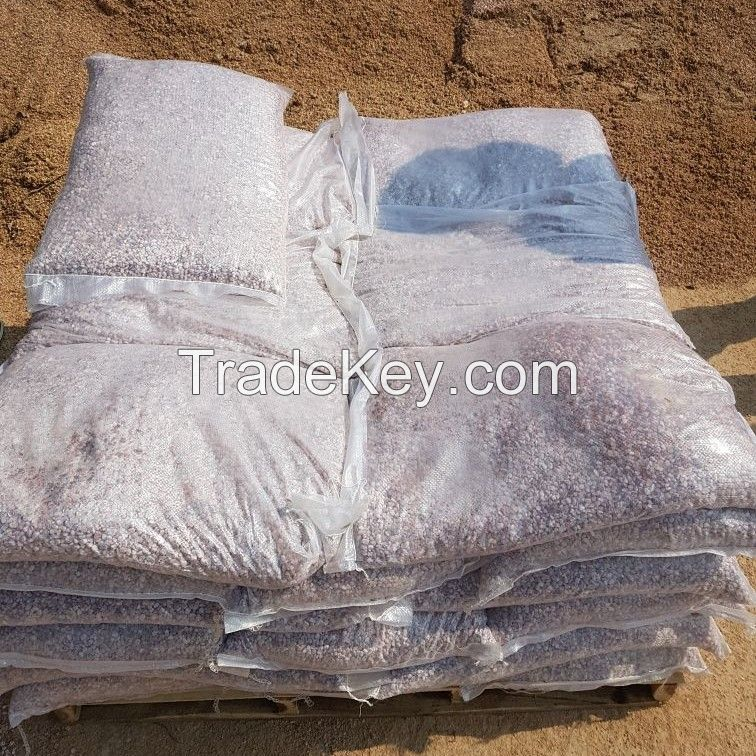 Pink tumbled stone for construction and decoration
