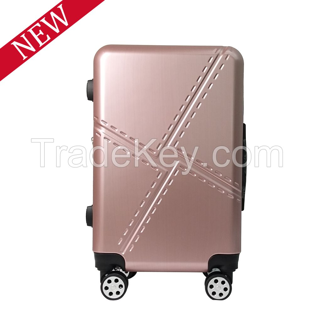 2017 Best Expandable Trolley Luggage Suitace Set With Built-in TSA Lock -Rose Gold