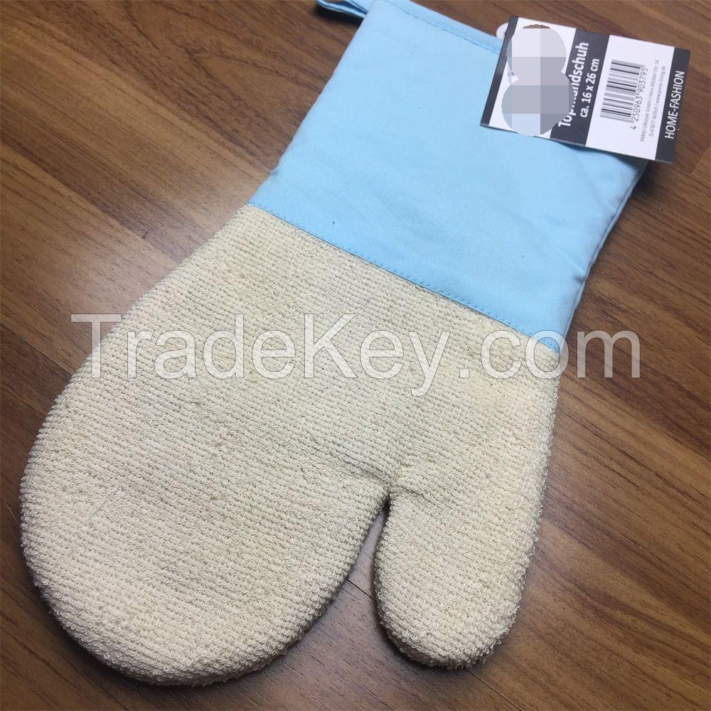 long cotton terry grill glove oven mitt