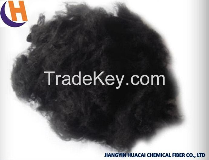 1.5D Black Polyester Staple Fiber